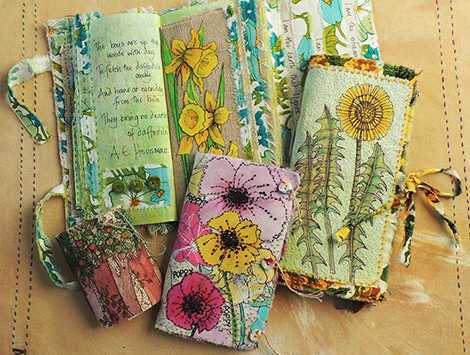 A selection of nature inspired fabric books (click to enlarge)